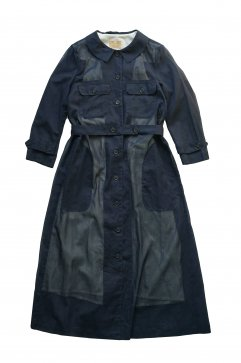 Nigel Cabourn woman - WORK DRESS - CHIFFON - NAVY