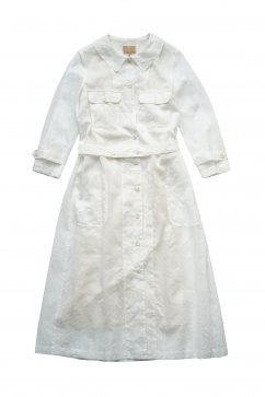 Nigel Cabourn woman - WORK DRESS - CHIFFON - WHITE