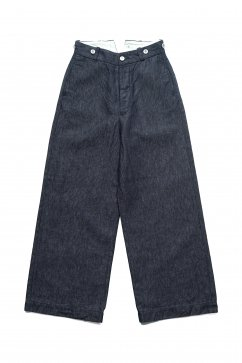 Nigel Cabourn WOMEN'S - WIDE CHINO - C/L DENIM - INDIGO