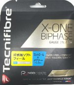 【ストリング+張り代セットで20%OFF】テクニファイバー エックスワン バイフェイズ1.34 【X-ONE BIPHASE1.34】