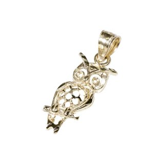 10K OWL PENDANT TOP