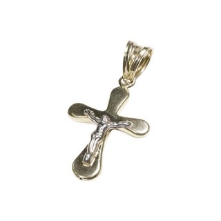 10K CROSS JESUS PENDANT TOP