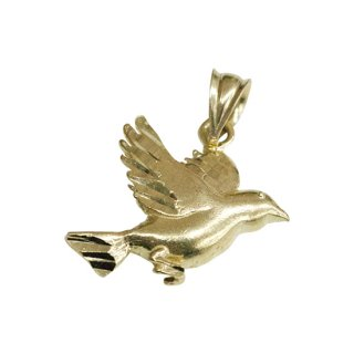 10K BIRD PENDANT TOP