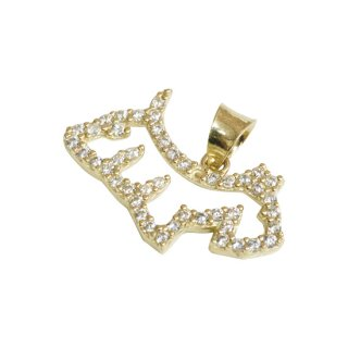 10K DOG PENDANT TOP