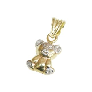 10K BEAR PENDANT TOP