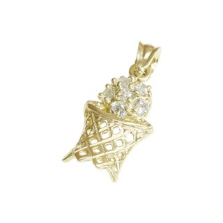 10K BASKET PENDANT TOP