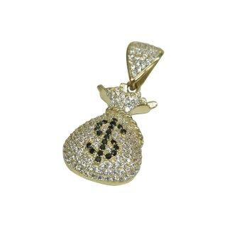 10K MONEY BAG PENDANT TOP