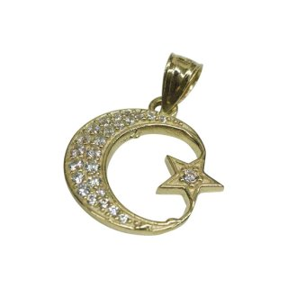 10K MOON PENDANT TOP