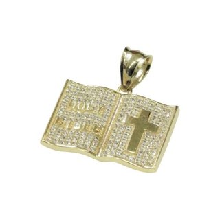 10K HOLY BIBLE PENDANT TOP