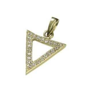 10K ZIRCONIA PENDANT TOP