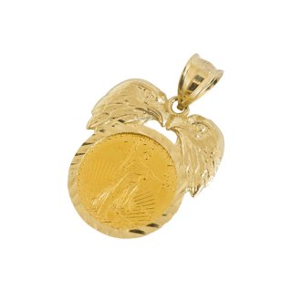 10K COIN PENDANT TOP