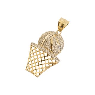 10K BASKET BALL PENDANT TOP