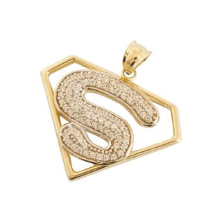 10K SUPERMAN PENDANT TOP