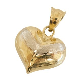 10K HEART PENDANT TOP