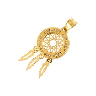 10K DREAM CATCHER PENDANT TOP