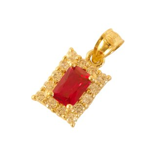 10K RED ZIRCONIA PENDANT TOP