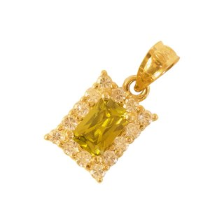 10K YELLOW ZIRCONIA PENDANT TOP