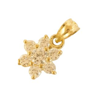 10K  ZIRCONIA FLOWER PENDANT TOP