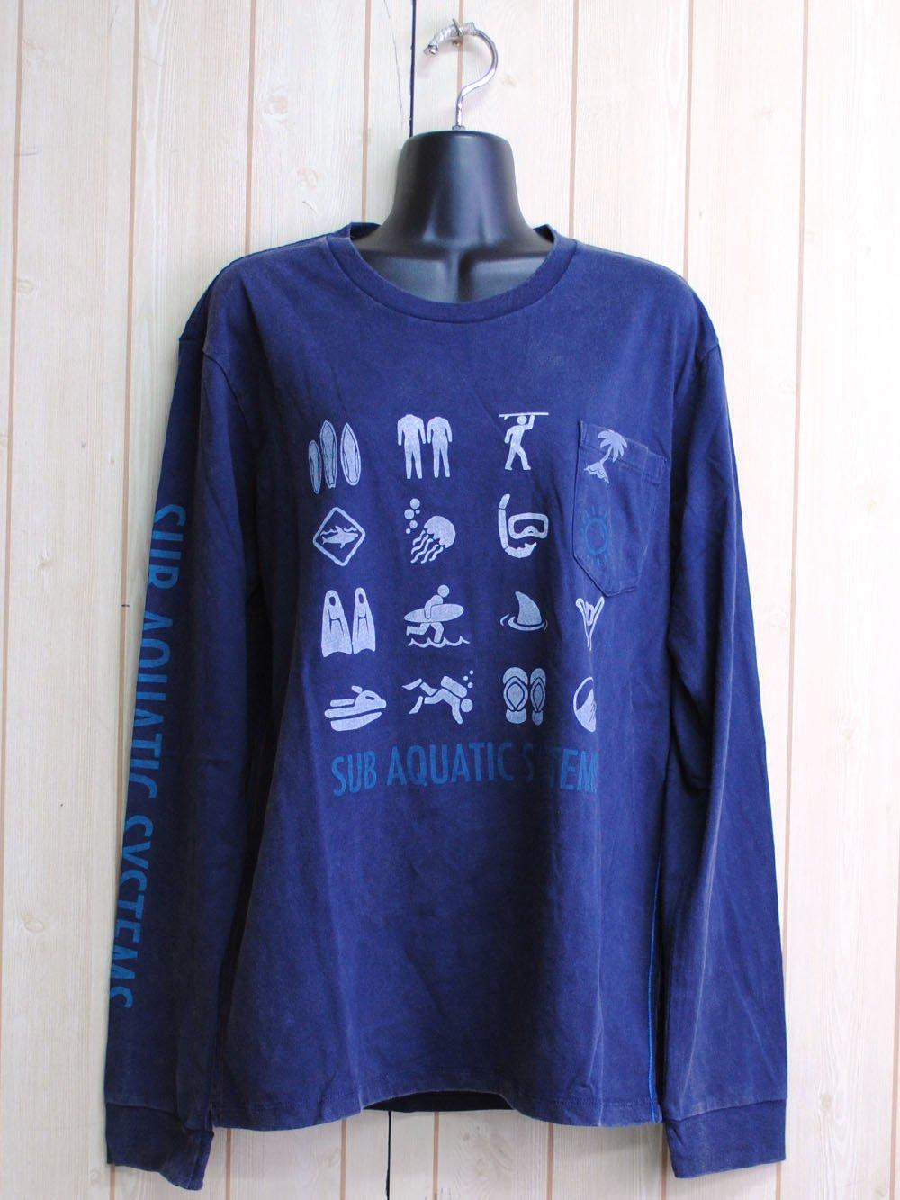 【84%OFF】@450円■5枚セット■メンズSAS長袖プリントTシャツ(刺繍ロゴ)