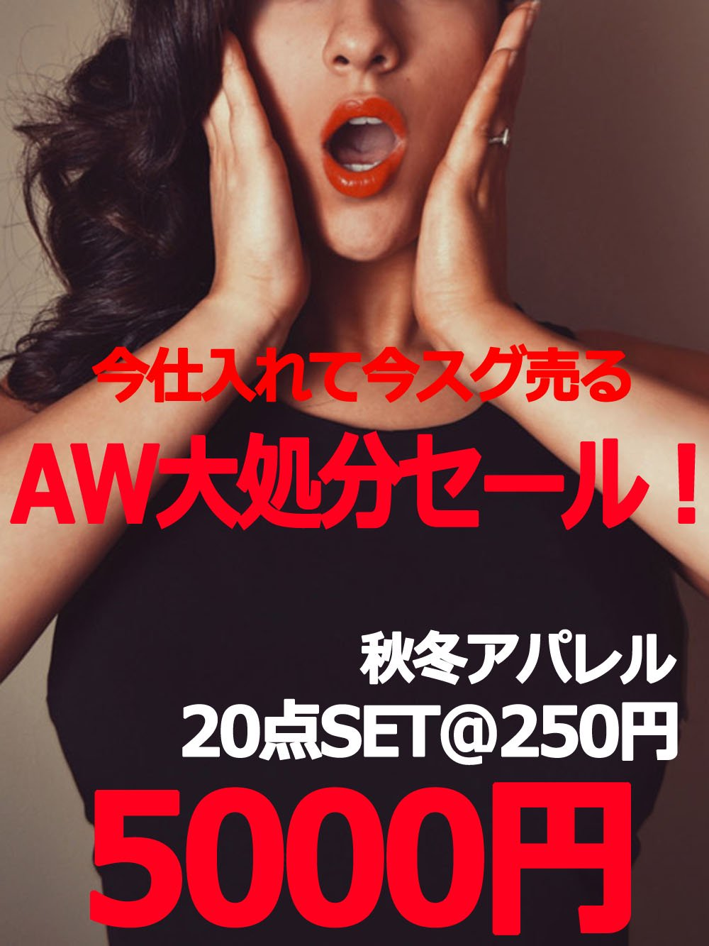 【AW大処分セール】今仕入れて今スグ売る☆秋冬アパレル【20点】@250円