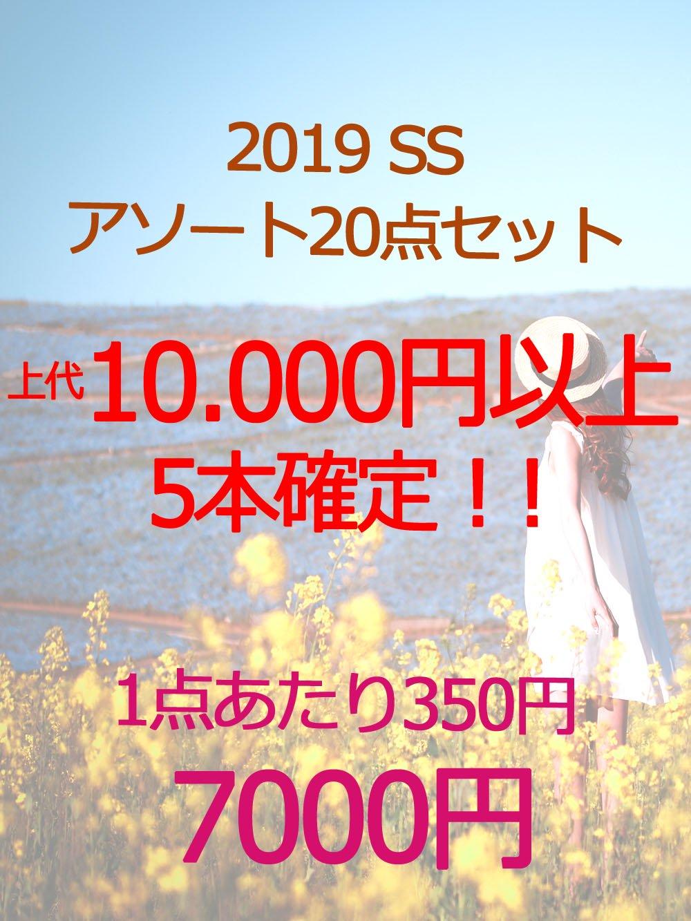 【上代10.000円以上 5本確定!】2019SSアソートセット☆【20点】@350円
