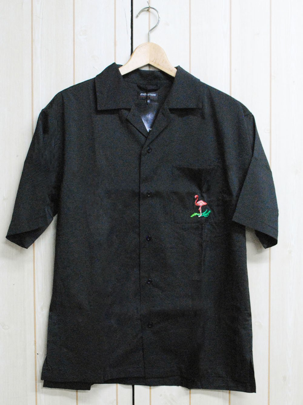 【92%OFF】@399円■5枚セット■フラミンゴ開衿シャツ