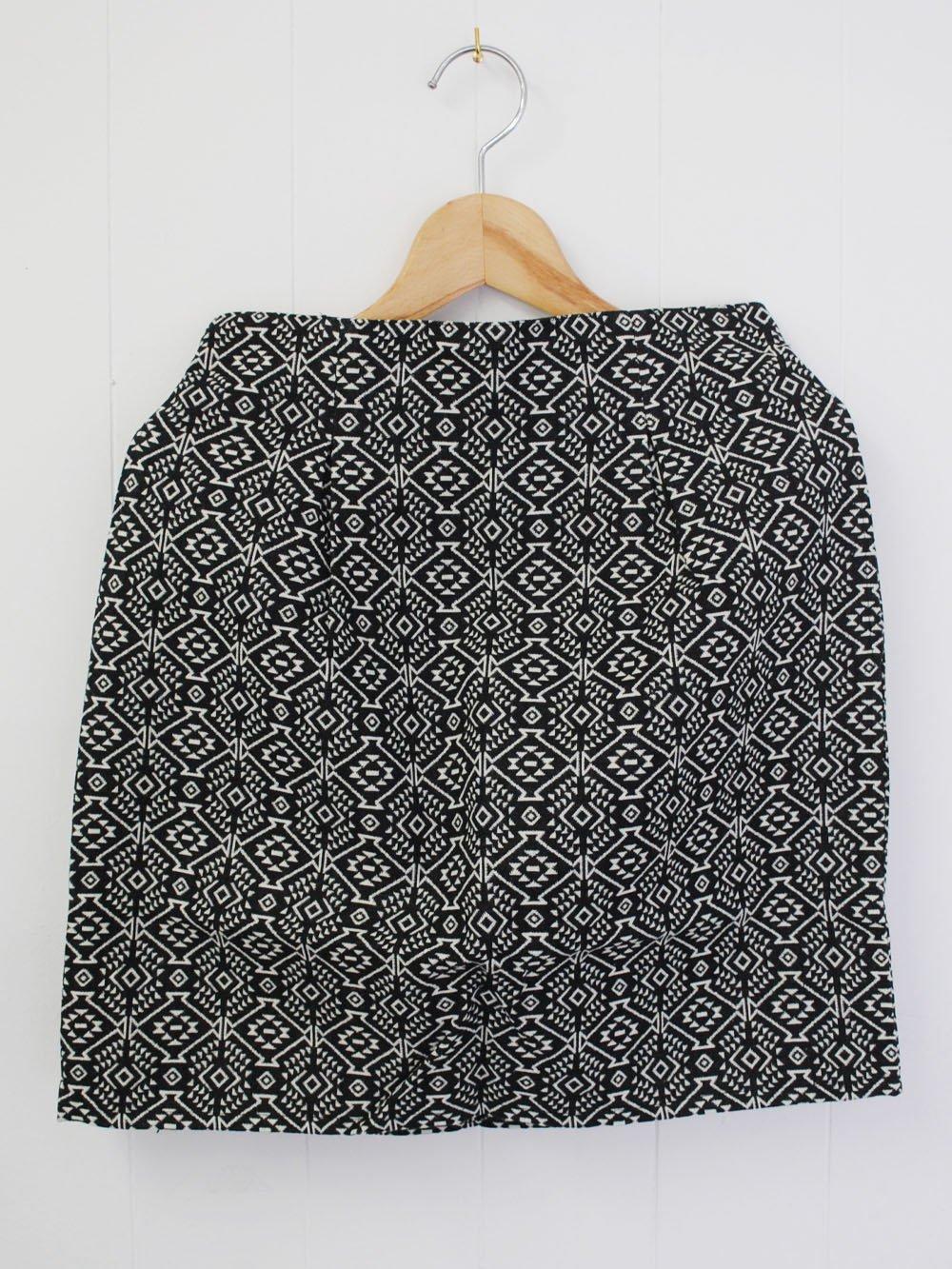 【99.9%OFF】@1円■幾何学ジャガードスカート