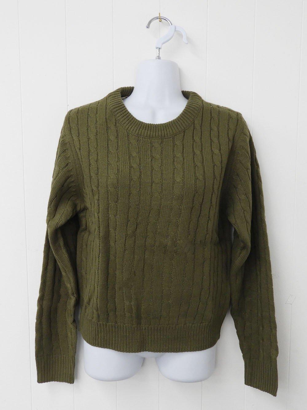 【99.9%OFF】@1円■ケーブル編みセーター