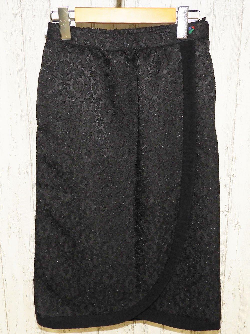 【90%OFF】@399円■5枚セット■ラップ風ミモレ丈スカート