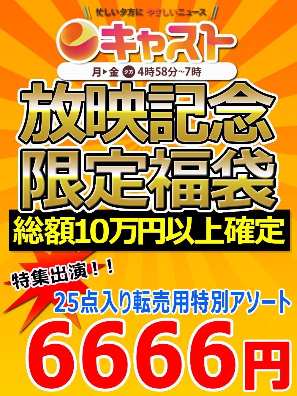 【CAST出演!】特別記念福袋!総額10万円確定転売用アソート【25点】6666円
