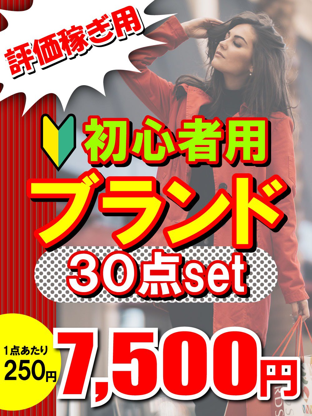 【評価稼ぎ用】初心者用ブランド30点セット@250