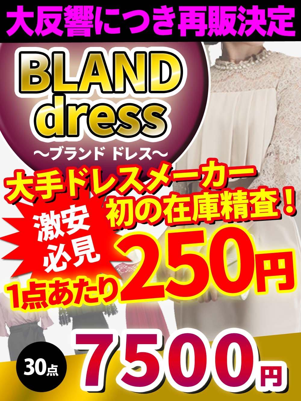 【激安必見!】大手ドレスメーカーが初めての在庫精査、ドレスアラカルト!!【30点】@250