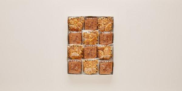 瓦せんべい24枚(4枚×6袋)/ビンズ(40g×6袋)