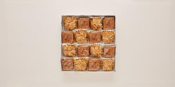 瓦せんべい32枚(4枚×8袋)/ビンズ(40g×8袋)