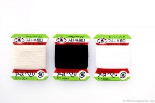 つよい糸 #30/3 100m 細口カード W,B,RW
