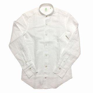 Finamore フィナモレ LORENZO-DUBAI ロレンツォ ドゥバイ コットンリネン バンドカラーシャツ