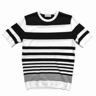 TOMORROWLAND トゥモローランド メンズ グラデーションストライプ ニットTシャツ