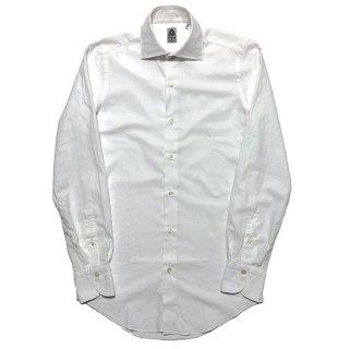 Finamore フィナモレ LUIGI SEATTLE ルイージ シアトル ストレッチ オックスフォードシャツ ホワイト