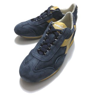 diadora HERITAGE ディアドラ ヘリテージ EQUIPE S SW 18 BLUE DENIM / PERSIMMON BEIGE エキップ ネイビー×イエロー<img class='new_mark_img2' src='https://img.shop-pro.jp/img/new/icons2.gif' style='border:none;display:inline;margin:0px;padding:0px;width:auto;' />
