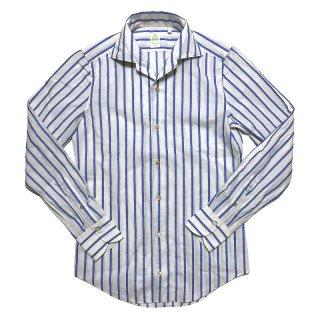 Finamore フィナモレ CAPRI VERONA カプリ ヴェローナ ネップストライプ ワンピースカラーシャツ