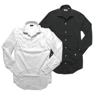 Finamore フィナモレ CAPRI ELBA カプリ エルバ ストレッチブロード ワンピースカラーシャツ ブラック