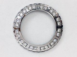 【即納】大粒ダイヤモンド シャネルJ12 レディース 33�用 24Pアフターダイヤベゼル VSクラス