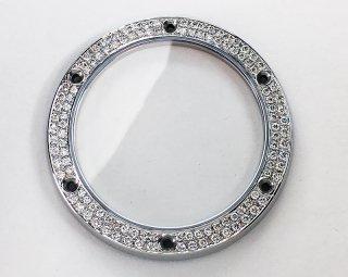 【オーダー品】HUBLOT ウブロ クラシックフュージョン用 アフターダイヤベゼル 天然ダイヤ サファイアガラス使用