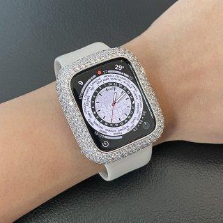【オーダー品】】Apple Watch アップルウォッチ Series 4-5 44mm アフターダイヤベゼルケース VSクラス天然ダイヤ