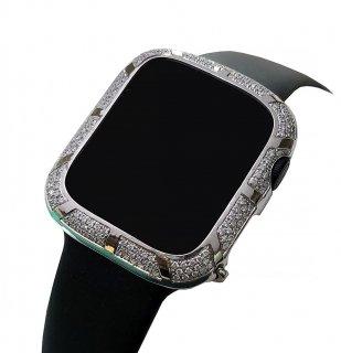 【即納】】Apple Watch アップルウォッチ Series 4-5 44mm アフターダイヤベゼルケース VSクラス天然ダイヤ