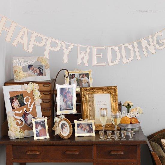 ペーパーガーランド HAPPY WEDDING