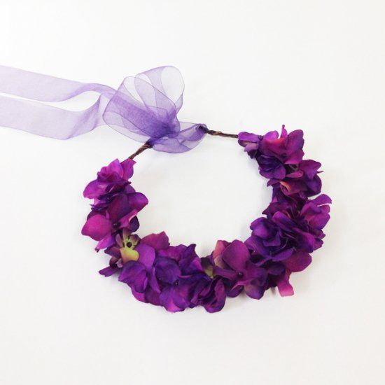 【ホームページ限定】 花かんむり ヴァイオレット
