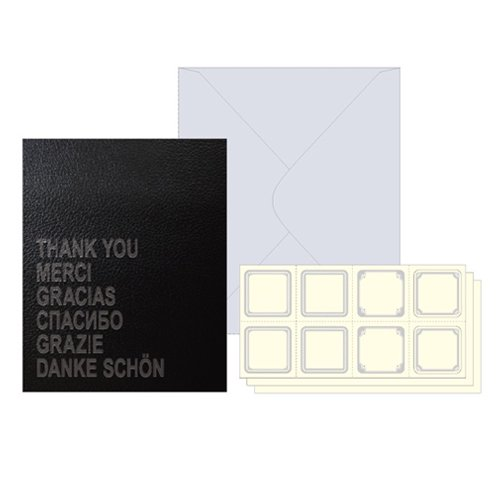 LS-002 レザー風 色紙 ブラック