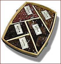 折箱詰合せ (青実さんしょう、荒神しぐれ、塩昆布、松茸佃煮、塩吹き昆布 (細切))