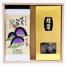 八女津媛100g×2本と椎茸のセット